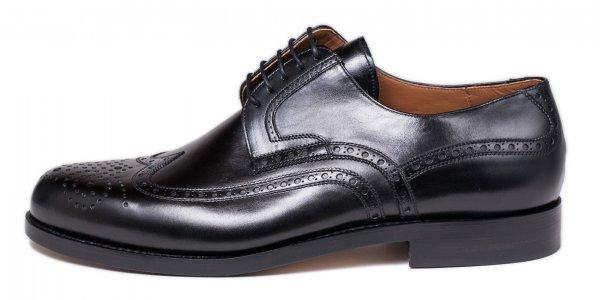 Budapester, nero Calf, Business Schuhe der Marke László