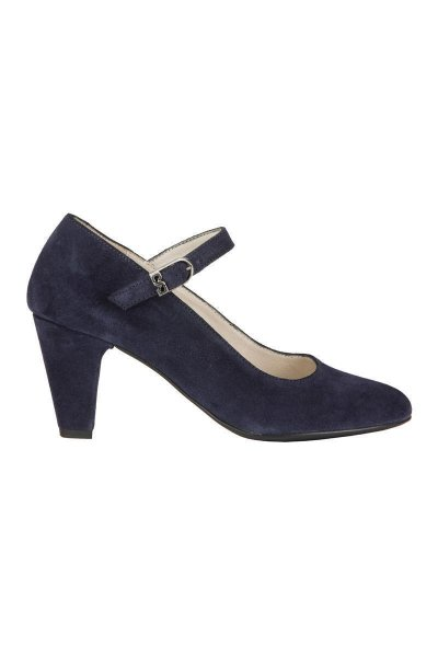 Trachtenpumps, Stockerpoint Modell 6055, Velourleder navy